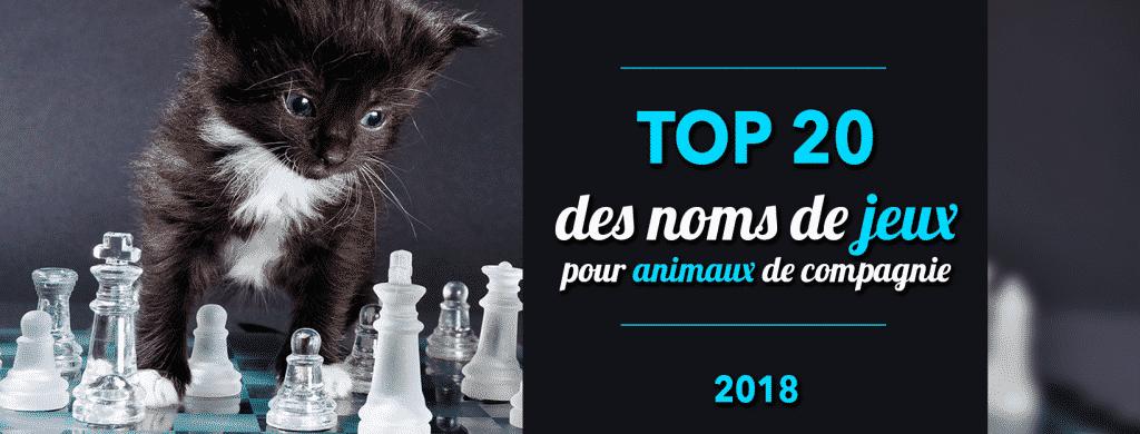 Top 20 des noms de jeux pour animaux de compagnie